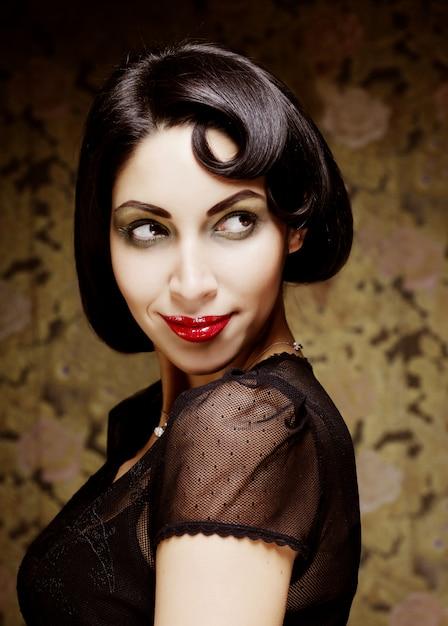 Portret dziewczyny sztuka moda Premium Zdjęcia