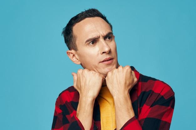 Portret Emocje Człowieka Premium Zdjęcia