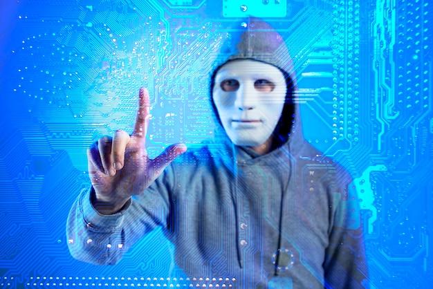 Portret Hacker Z Maską Darmowe Zdjęcia