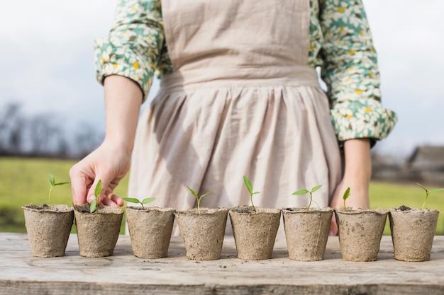 Portret kobiety ogrodnictwo Darmowe Zdjęcia