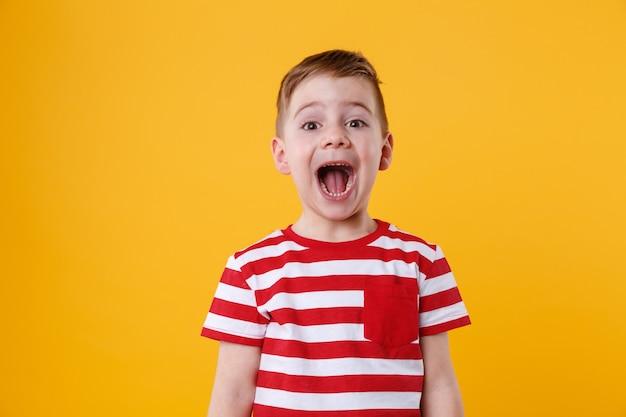 Portret Małego Chłopca Krzyczeć Darmowe Zdjęcia