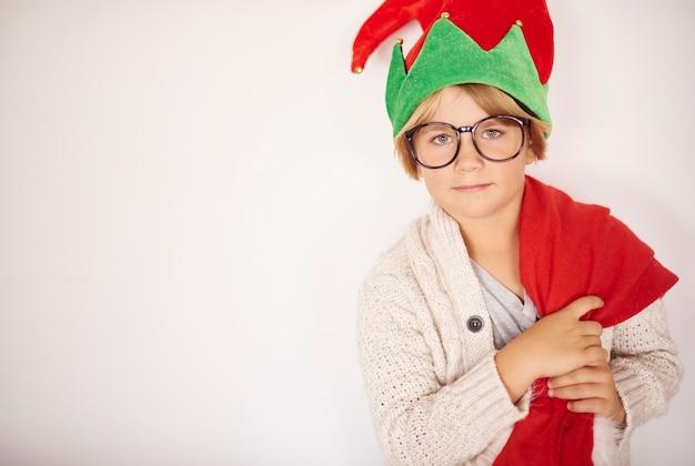 Portret Małego Chłopca Na Boże Narodzenie Darmowe Zdjęcia