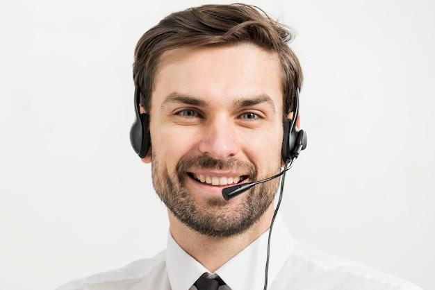 Portret męski centrum telefoniczne agent Darmowe Zdjęcia