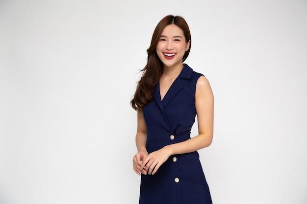 Portret Młody Piękny Azjatycki Bizneswoman Premium Zdjęcia