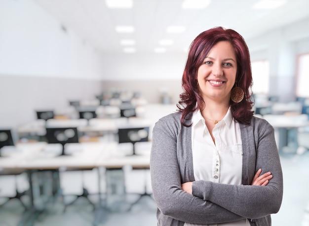 Portret nauczyciela kobieta Premium Zdjęcia
