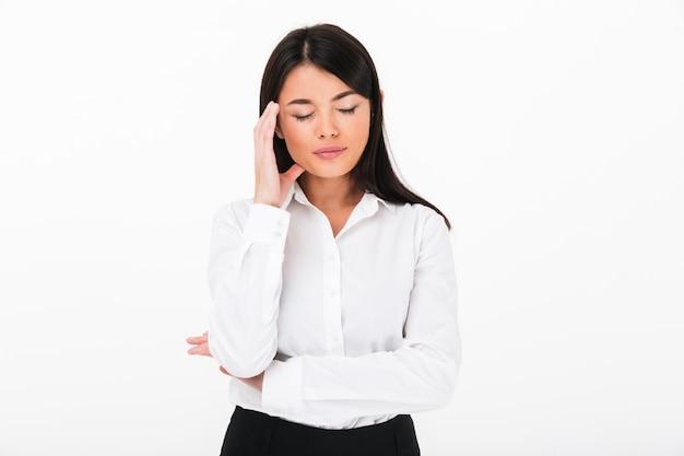 Portret Nieszczęśliwy Azjatykci Bizneswoman Darmowe Zdjęcia