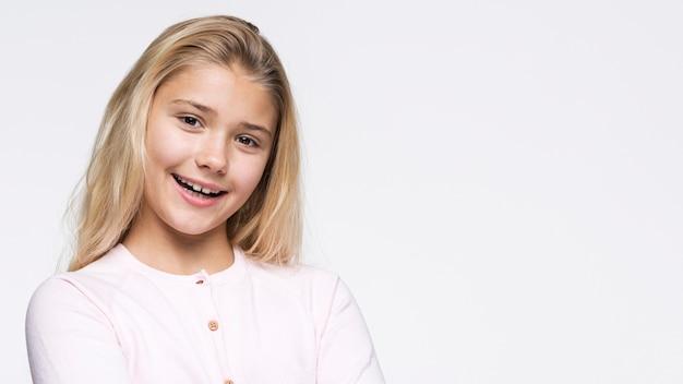 Portret Pięknej Dziewczyny Buźkę Darmowe Zdjęcia