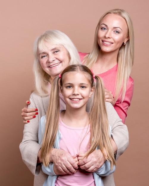 Portret pokolenia pięknych kobiet Darmowe Zdjęcia