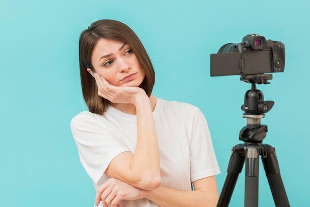 Portret Przygotowywający Filmować Kobieta Darmowe Zdjęcia