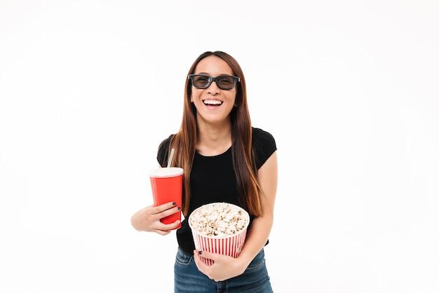 Portret Roześmiana Asin Dziewczyna W 3d Szkłach Darmowe Zdjęcia