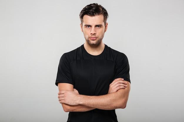 Portret Skoncentrowanego Poważnego Sportowca Darmowe Zdjęcia