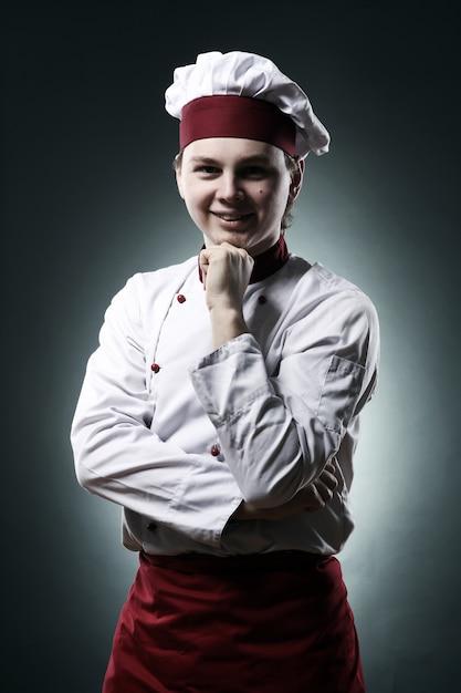 Portret Uśmiechnięty Szef Kuchni Darmowe Zdjęcia