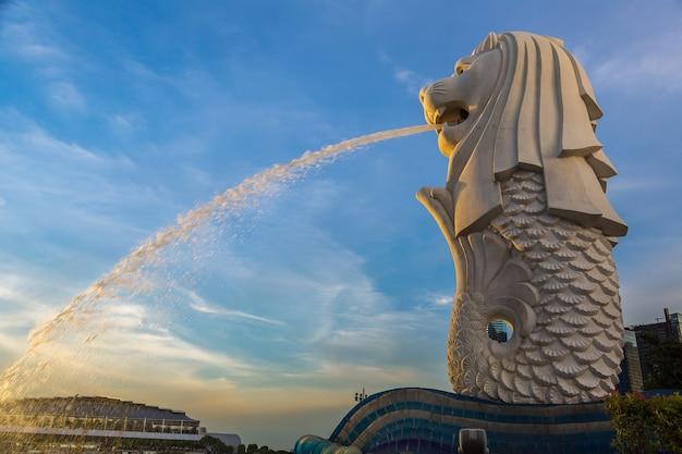Posąg Fontanny Merlion Premium Zdjęcia