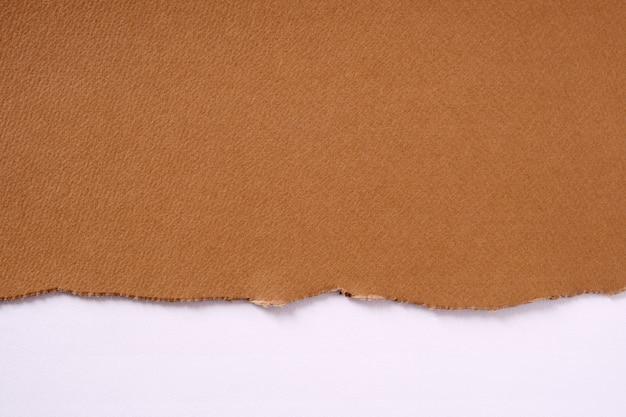 Poszarpany Brown Papieru Granicy Bielu Tło Darmowe Zdjęcia