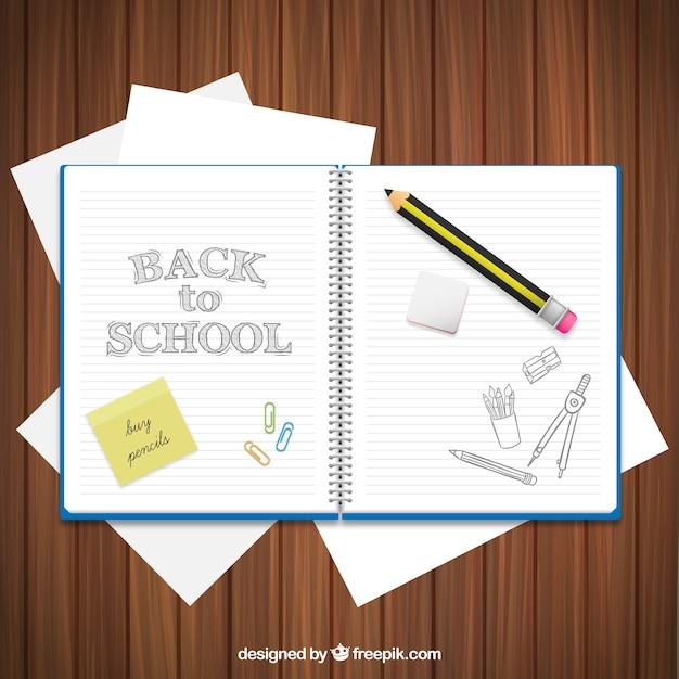 Powrót do szkoły notebooka