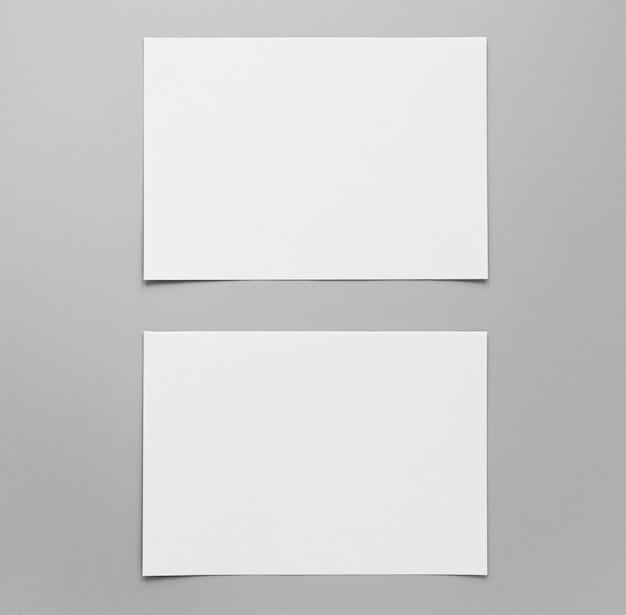 Powyżej Widać Układ Pustych Arkuszy Papieru Darmowe Zdjęcia