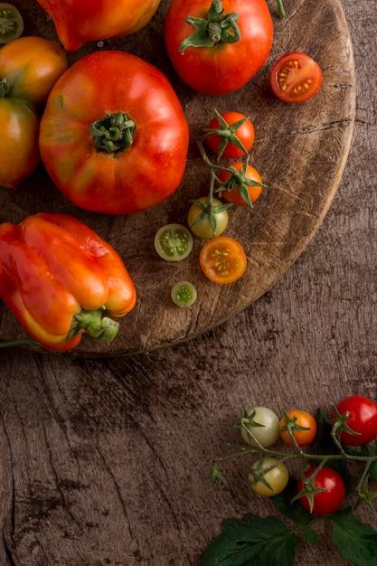 Powyżej Widok Pomidorów I Papryki Darmowe Zdjęcia