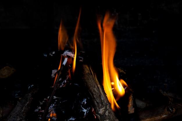 Pożar W Kominku, Z Bliska. Darmowe Zdjęcia