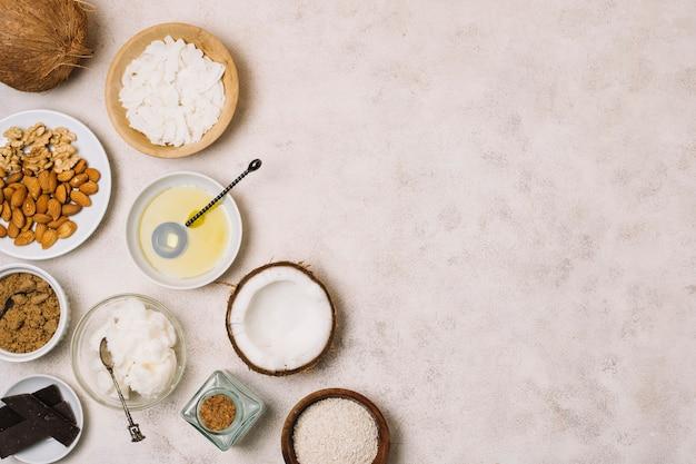 Pożywna Rama Produktów Kokosowych Darmowe Zdjęcia