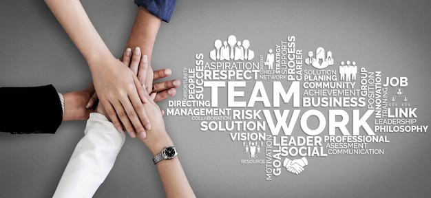 Praca zespołowa i biznesowe zasoby ludzkie Premium Zdjęcia