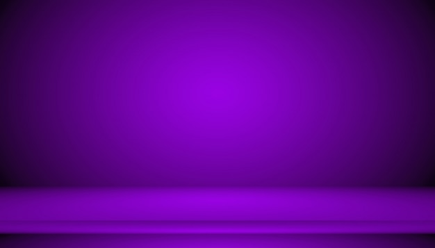 Pracowniany tła pojęcie - ciemny gradientowy purpurowy pracowniany izbowy tło dla produktu. Premium Zdjęcia