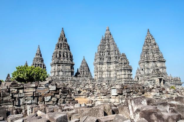 Prambanan świątynia, yogyakarta na jawa wyspie, indonezja Premium Zdjęcia