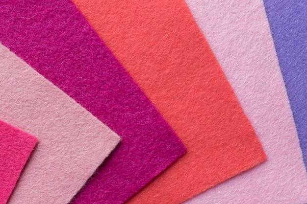 Próbki miękkich filcowych klapek w różnych kolorach Premium Zdjęcia