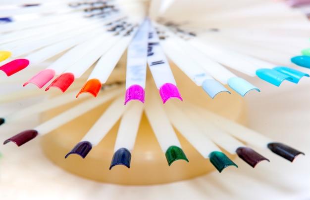 Próbki paznokci ręcznie izolowane o Premium Zdjęcia