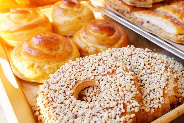 Produkty Piekarnicze Na Ladzie Premium Zdjęcia