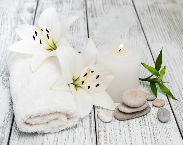 Produkty Spa Z Białą Lilią Premium Zdjęcia