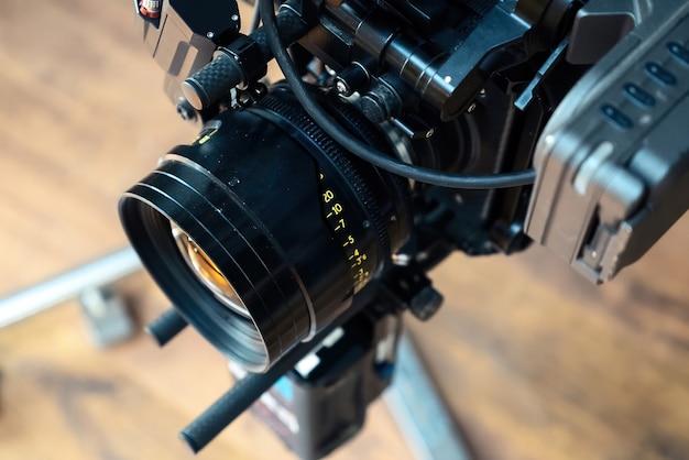 Profesjonalny Obiektyw Kamery Filmowej Na Planie Filmowym Darmowe Zdjęcia