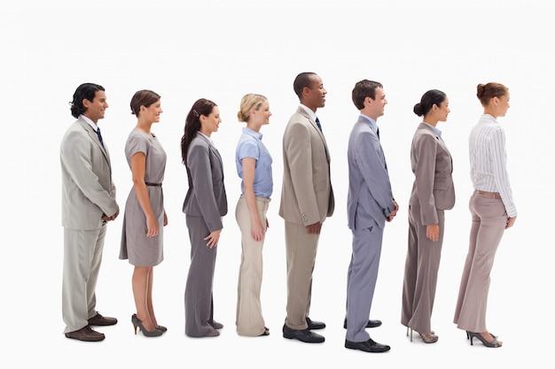 Profil Zespołu Biznesowego W Jednej Linii Premium Zdjęcia
