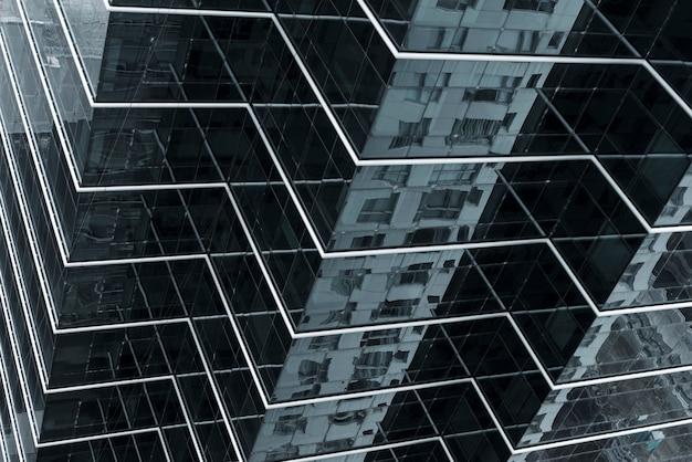 Projekt budynku ze szkła kątowego Darmowe Zdjęcia