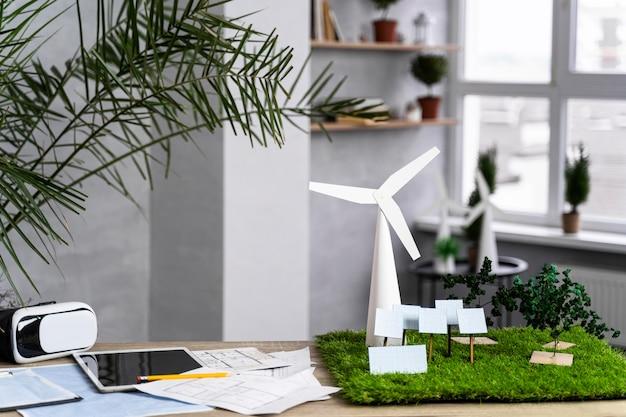 Projekt Ekologicznej Energetyki Wiatrowej Z Turbinami Wiatrowymi Darmowe Zdjęcia