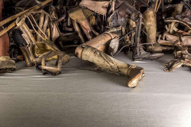 Protezy, Kule Ofiar, Obóz Auschwitz Ii Premium Zdjęcia