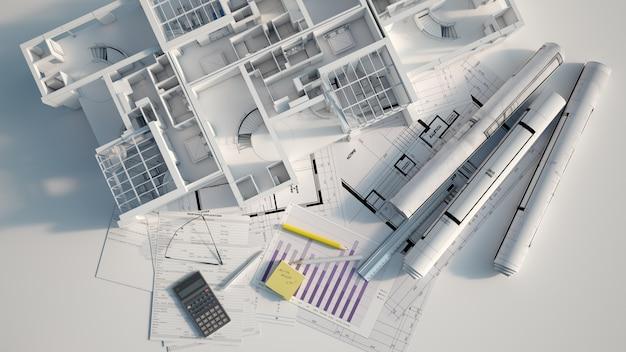 Przegląd Projektu Budynku Mieszkalnego Premium Zdjęcia