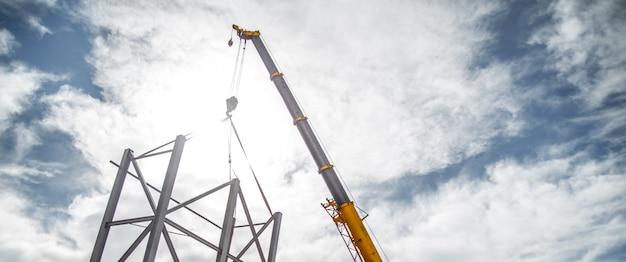 Przemysłowe ramy dla robotników budowlanych Premium Zdjęcia