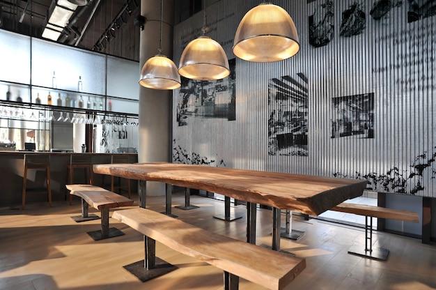 Przemysłowy Bar W Stylu Loftu Premium Zdjęcia