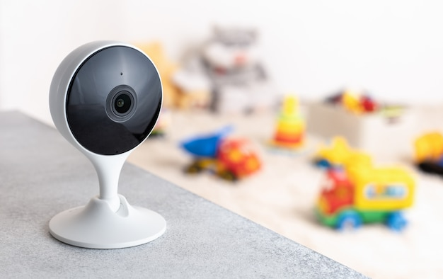 Przenośna Kamera Monitorowanie Bezpieczeństwa Pokój Zabaw Dla Dzieci Premium Zdjęcia