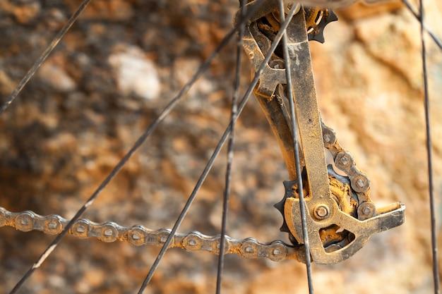 Przerzutka Dirty Mountain Bike Premium Zdjęcia