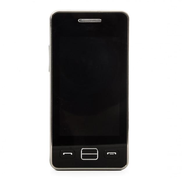 Przestarzały Telefon Komórkowy Na Białym Tle Premium Zdjęcia
