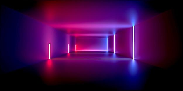 Przestrzeń światła Neonowego Premium Zdjęcia