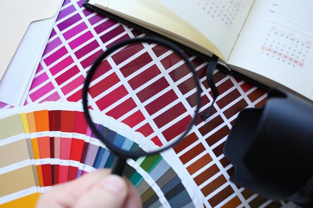 Przesunięcie Statystyki Schematu Druku Kolorowego Premium Zdjęcia