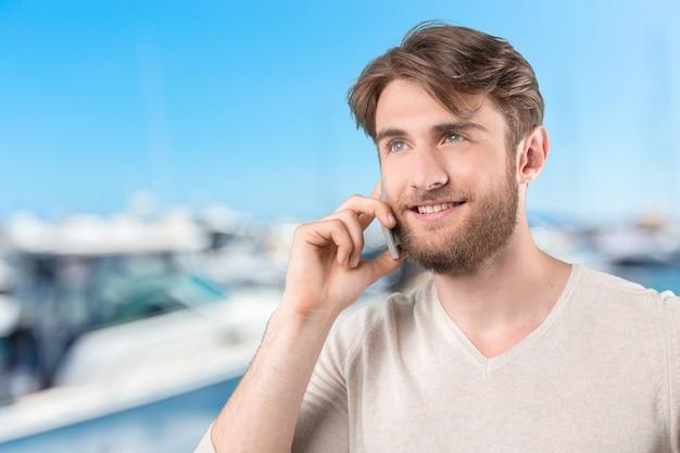 Przypadkowy młody człowiek Premium Zdjęcia
