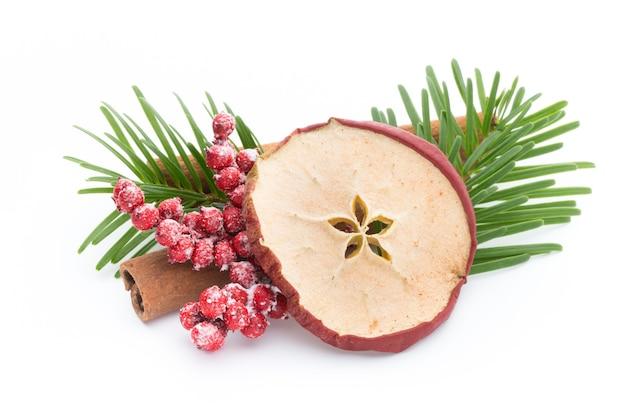 Przyprawy świąteczne, Jabłko, Anyż, Gwiazdki, Cynamon, Sosna Premium Zdjęcia