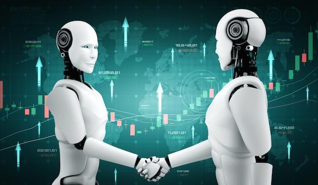 Przyszła Technologia Finansowa Kontrolowana Przez Robota Ai Premium Zdjęcia
