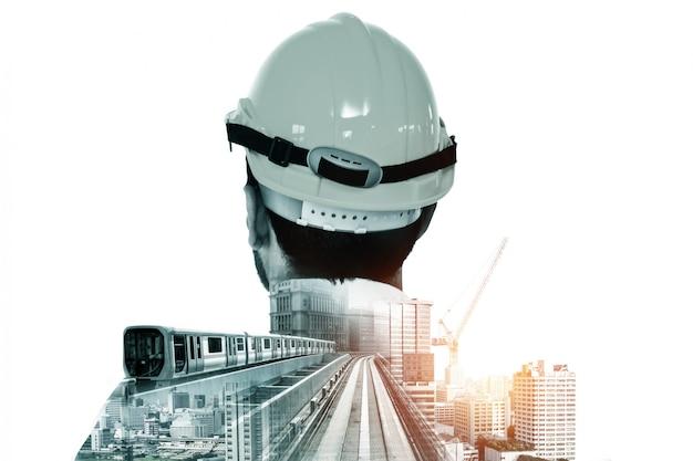 Przyszły projekt inżynierii budowlanej. Premium Zdjęcia