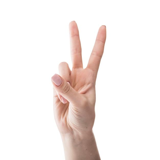 Przytnij Rękę Gestem Pokoju Darmowe Zdjęcia