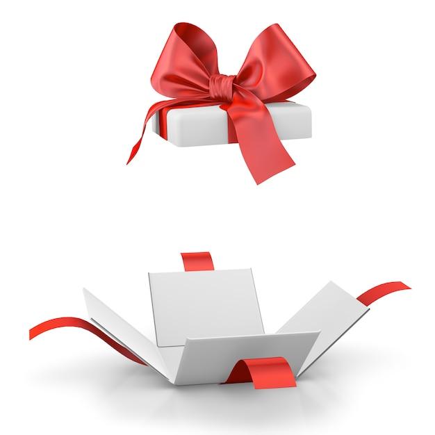 Pudełko Lub Prezent Na Białym Tle Premium Zdjęcia
