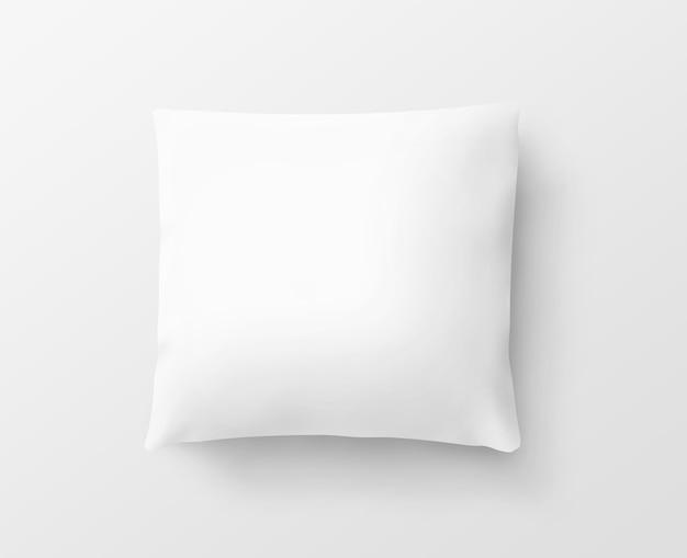 Pusta biała poszewka na poduszkę na białym tle Premium Zdjęcia
